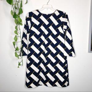 Elizabeth McKay geometric print sheath dress